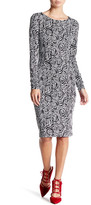 Betsey Johnson Rose Jacquard Sheath Dress
