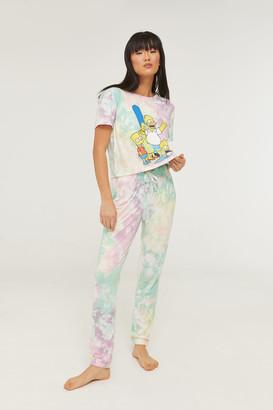 Ardene Tie-dye The Simpsons PJ Set