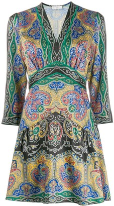 Sandro Paris Rayan paisley-print dress