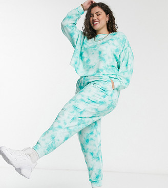 Simply Be co-ord oversized trackies in tie-dye print