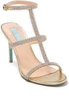 Betsey Johnson Tate Embellished T-Strap Sandal