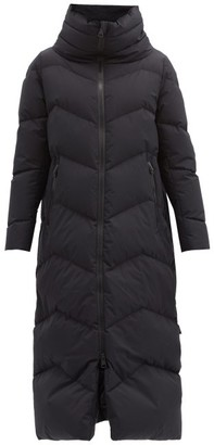Herno Funnel-neck Chevron-quilted Down Coat - Black