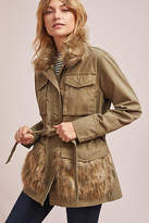 Anthropologie Fur-Trimmed Field Parka