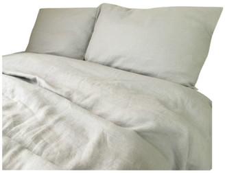 Superior Custom Linens Stone Gray Duvet Cover Set Handmade, Natural Linen, Gray Bedding, Full