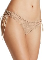 Ale By Alessandra Festival Crochet Side Tie Bikini Bottom
