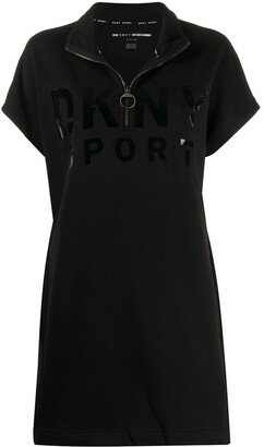 DKNY logo short-sleeve mini dress