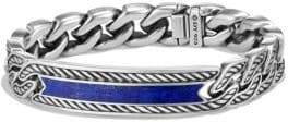 David Yurman Maritime Collection Lapiz Lazuli Sterling Silver Bracelet