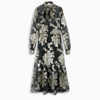 Saint Laurent Dress in floral silk georgette