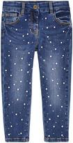 MonnaLisa Girl slim fit jeans with rhinestones