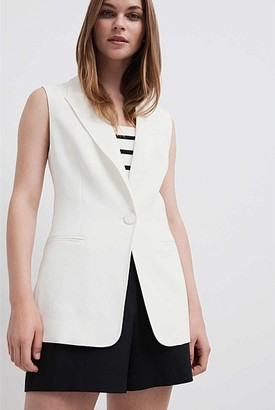 Witchery Sleeveless Sb Blazer