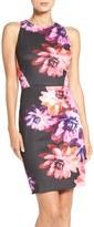 Vince Camuto Print Scuba Sheath Dress (Regular & Petite)