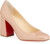 Christian Louboutin Baobab 85 Patent Red Sole Pumps