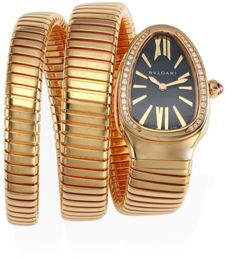 Bvlgari Serpenti Rose Gold & Diamond Double Twist Watch