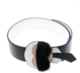 Fendi Black Leather Karlito Bag Strap