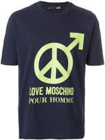 Love Moschino peace graphic T-shirt