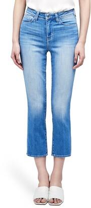 L'Agence Nadia High Waist Crop Straight Leg Jeans