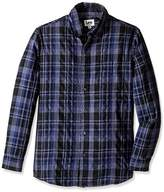 Lee Men's Long Sleeve Button up Plaid Shirt (Regular and Big and Tall Sizes)