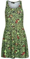 Character Womens Skate Dress Pattern Elastic Print Sleeveless Round Neck Summer
