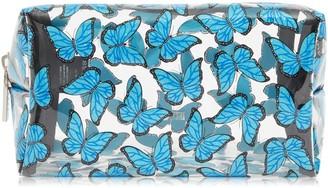 Skinnydip Blue Butterfly Makeup Bag