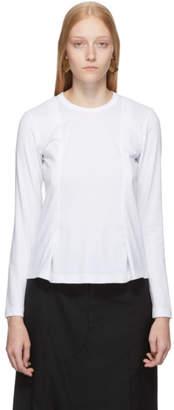 Comme des Garcons White Double Centered Seam T-Shirt