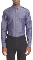 Paul Smith Men's Trim Fit Diamond Chambray Dress Shirt