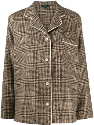 Jejia Houndstooth Check Wool Jacket