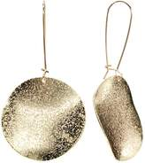 Apt. 9 Gold Tone Textured Disc Drop Earrings