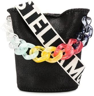 Stella McCartney Stella Logo rainbow chain bag
