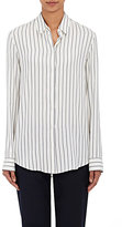 The Row Women's Peter Silk Blouse-WHITE