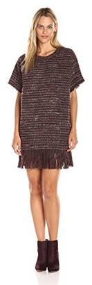 ASTR the Label Women's Margo Fringe Short Sleeve Dress