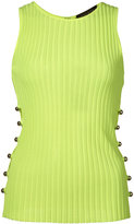 David Koma ribbed metal ball vest - women - Nylon/Spandex/Elastane/Rayon - S
