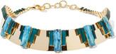 Elizabeth Cole Helena gold-tone multi-stone necklace