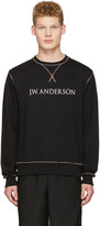 J.W.Anderson Black Rainbow Stitch Logo Pullover