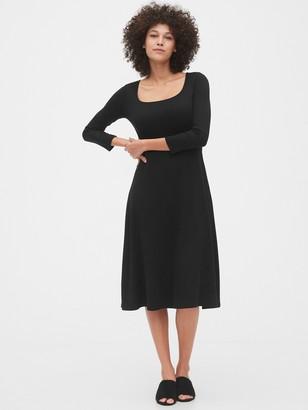 Gap Squareneck Midi Dress