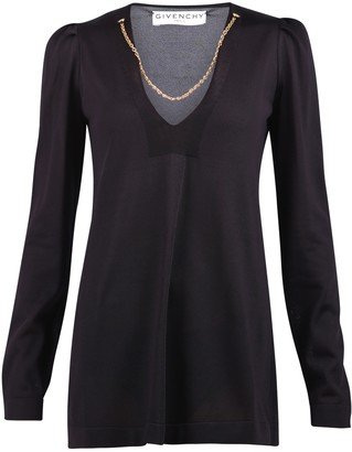 Givenchy Chain Detail V-Neck Top