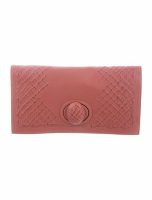 Bottega Veneta Leather Fold-Over Clutch