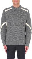 Sacai Aran-knit Wool Jumper