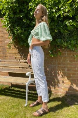 BDG Pax Optic White Straight Leg Jeans - White 24W 32L at Urban Outfitters
