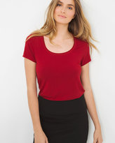 White House Black Market Soft Touch Scoop Neck Tee