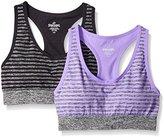 Spalding Women's Neo Stripe Racerback Seamless Bra (Pack of 2)