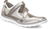 Ecco Gray Metallic & Gravel Lynx Leather Mary Jane Sneaker - Women