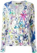 Roberto Cavalli floral cardigan - women - Silk/Cashmere/Wool - 46