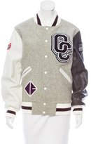 Opening Ceremony Leather-Accented Varsity Jacket