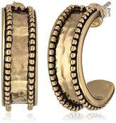"Barse Basics"" Beaded Bronze Hoop Earrings"
