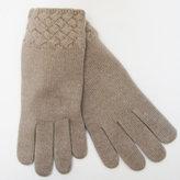 Portolano Basket Weave Cashmere Gloves