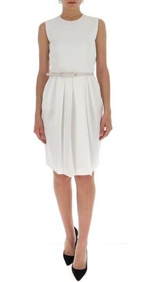 Max Mara Belted Sleeveless Dress