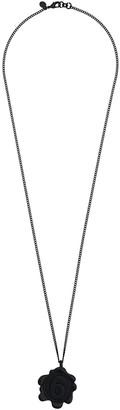 MM6 MAISON MARGIELA logo drop necklace