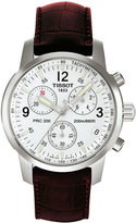 Tissot Men's PRC 200 Stainless Steel & Leather Chronograph Watch