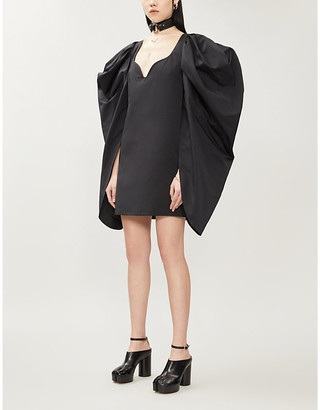 Selfridges Hyun Mi Nielsen Puffed-sleeve woven mini dress