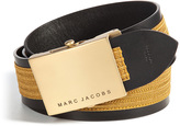 Marc Jacobs Woven Belt with Leather Trim